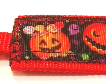 Halloween Jack O Lantern Mini Pocket Keychain