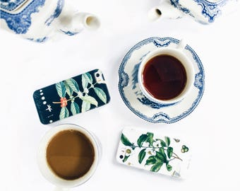 2 Phone Cases - Coffee and Tea - Opposites Attract, iPhone 7, 6S/SE Plus  Best Friend Galaxy s6 Cases Couples Gift Engagement Gift