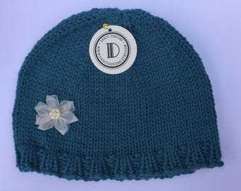 Turquoise Waters Hat - Turquoise Blue - Size 1-3 Years