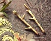 Golden Bronze Tiny Twig Branch Bobby Hair Pins by Woodland Belle