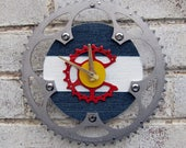 I Bike CO Recycled Bicycle Chainring Wall Clock