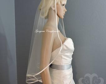 Bias Satin Edge Sweetness Bridal Veil