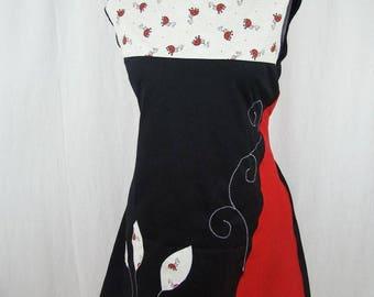 Vestido Kyriu mariquitas rojas y negras