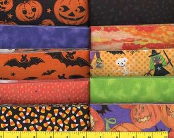 Halloween  Jelly Roll 40 - 2 1/2 inch strips - new combination