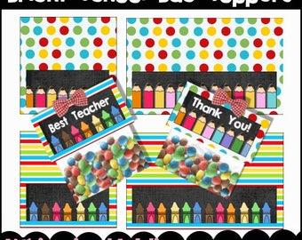 Bright School Bag Topper Set - Immediate Download