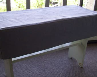 Bench Slipcover, Topstitched Bench Cover, Canvas Bench Slipcover