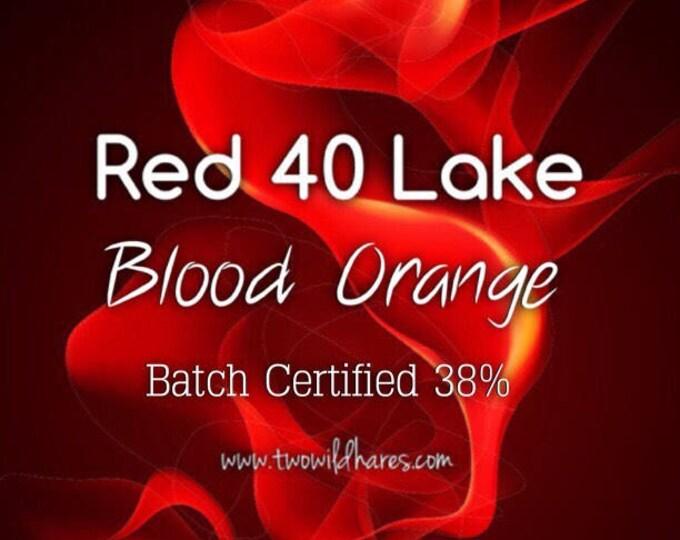 BLOOD ORANGE LAKE, 38% Dye Load Fd&c Red 40 Lake, Batch Certified, Powdered Cosmetic Colorant