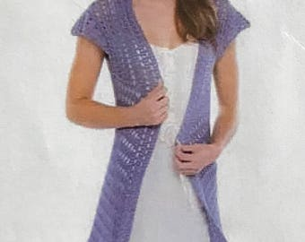 Purple Vest, Long Purple Vest, Ladies Long Vest, Ladies Long Purple Vest, Summer Vest, Fall Vest, School Vest