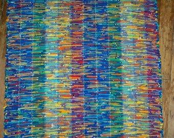Handwoven Rag Rug - Bright Multi - 100% cotton