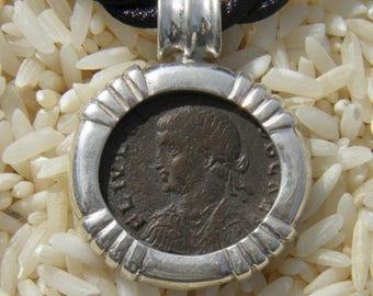 Authentic Ancient Roman Coin Of Emperor Crispus Pendant