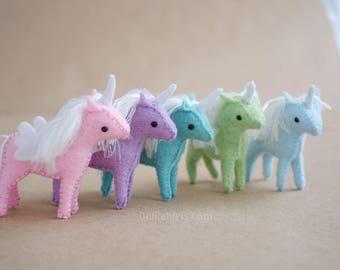 Tiny Baby Unicorn Pattern * DIY Miniature Stuffed Unicorns * Mini Unicorns Printable PDF Stuffed Animal Sewing Pattern