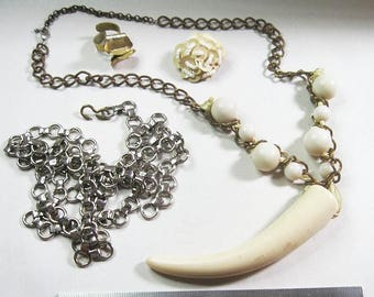 Lot of Vintage Jewelry for Repair or Re-purpose - As Is