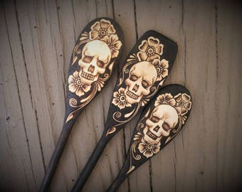 Skull Spoon Set of 3 - Made to Order