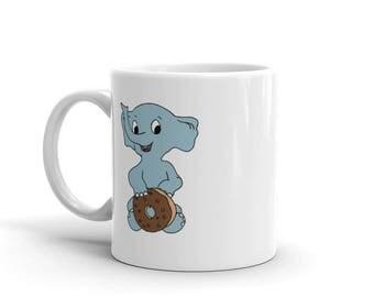 Elephant with Donut Mug