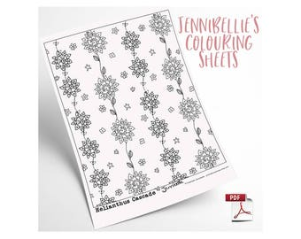 Helianthus Cascade Digital Colouring Sheet by Jennibellie