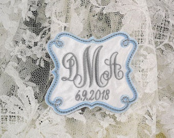 Something Blue for bride, Wedding Dress Label, Wedding Dress Patch, Wedding Gown Label, Wedding Gown Patch, Bridal Shower Gift, Style 1011