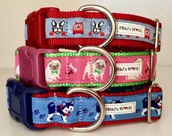 PBJ World Custom Ribbon Collars Dog Breeds