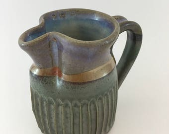 Fluted Pitcher (Shino and Oribe)