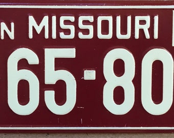 1953 Wheaties Collectible Children's Bicycle License Plate State of Missouri General Mills