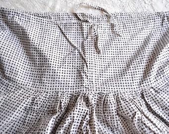 Vintage India Harem Pants - Black and White Check - Small Medium