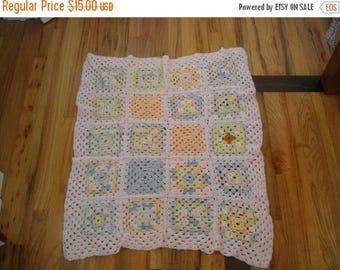 Sale Handmade Granny Square Baby Blanket