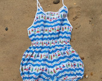 Vintage Childs Swimsuit circa 1960s - Novelty Print - aged 10