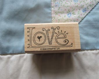 Stamp for Scrapbooking or Card Making- LOVE-Rubber Stamp