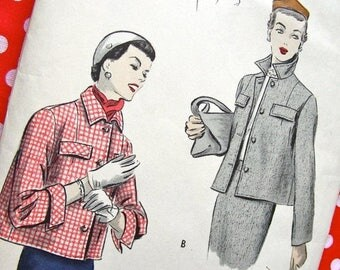 Sale:) 1950s  Vogue  Pattern 6999 *  Timeless Short Jackets   * Factory Folded * Size 18  *  Easy to Make