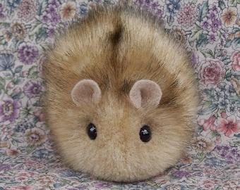 Golden Tan Toy Hamster Handmade Faux Mink Hamster
