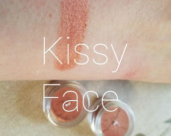 KISSY FACE - Berry + Bronze Shimmer - Mineral Mica Make up Eye Shadow - Bronzer - Blush - Face Gift for her -5ml sifter jar - cruelty free