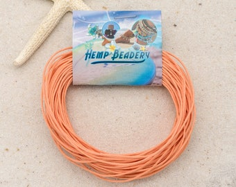 Hemp Coil, 20 Yards,  Hemp Cord,  1mm macrame Cord,  Peach  Macrame Cord