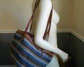 Straw Bag / Woven Purse / Market Tote / Beach Bag