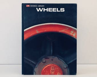 "Vintage Time Life Magazine ""Wheels"" Encyclopedia, 1960s Railroad History, Automobile Transportation Book, Father's Day Gift"