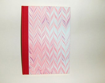Marbled paper  guest  book. Hand bounded   cm 17 x 24 cm.  1008