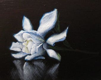 Gardenia - original daily painting by Kellie Marian Hill