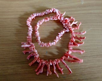 Branch Coral- Salmon- Pink- Vintage Strand- Mermaid- Untreated Coral  #2