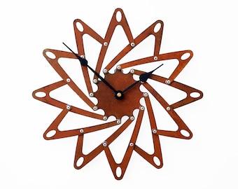 Pinwheel I, Medium Wall Clock, Rusted Wall Clock, Rustic Wall Clock, Unique Wall Clock, Modern Wall Clock, Steampunk Wall Clock, Metal Art