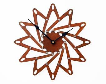 Pinwheel I, Medium, Rustic Wall Clock, Unique Wall Clock, Modern Wall Clock, Steampunk Home Decor, Industrial Metal Art, Airplane Propeller