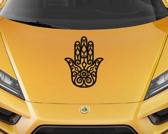 Custom Set of Hamsa Hand Vinyl CAR DECALs Hand of Fatima New Age Yoga Sticker