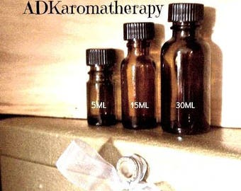 Aromatherapy Supply. Empty Glass Amber Bottle. 15 ML