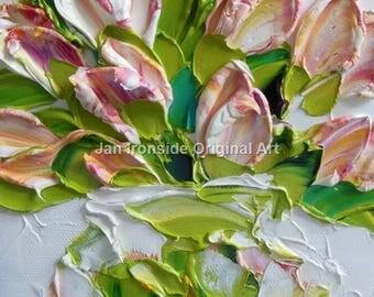 Palette Knife Oil  Painting  tulips