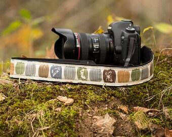 Nature Camera Strap, Sketchbook, Nikon strap, Canon strap, Neck Strap, Padded, Mirrorless, Pocket, Photography, dSLR, SLR, 306