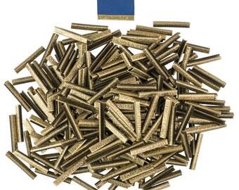 500pcs.  38mm or 1  1/2 inch - Antique Bronze No Loop Ribbon Clamp End Crimps - Artisan Series