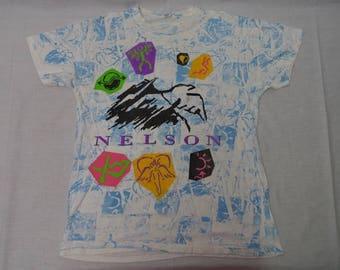 Vintage NELSON Rock Band T-shirt Concert Tour Shirt 90's
