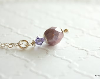 Purple Necklace , Crystal Necklace , March of Dimes Jewelry , March for Babies