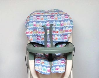 Graco high chair cover baby accessory cotton replacement baby feeding chair pad kids furniture child chair pad chair cushion, sweet shop
