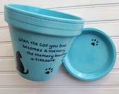 Personalized Pet Memorial - Dog Memorial Gift - Cat Memorial Gift - Pet Sympathy - Painted Flower Pot - Pet Loss Gift