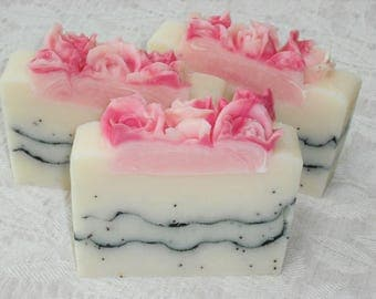 Love Spell Soap / Citrus Floral Scent / Feminine Soap / Cold Process Handmade Soap