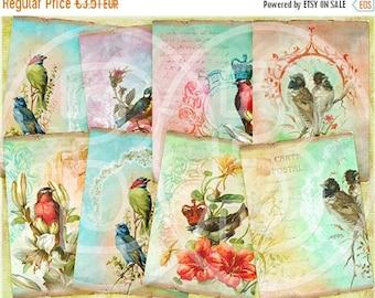 SALE 40% OFF - Oh Birds  ATC Cards, Vintage Tags