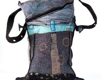 Designer Handbag - Wearable Art Accessories - Outstanding Fiber Art made in Paris